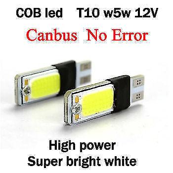 2 X WHITE T10 CAR & BIKE COB LED PAIR W5W PARKING LICENCE PLATE ROOF LED for sale  DELHI