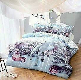 Unicorn christmas duvet Set