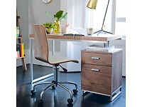 DWELL reversible desk with drawers in walnut for sale - Excellent condition