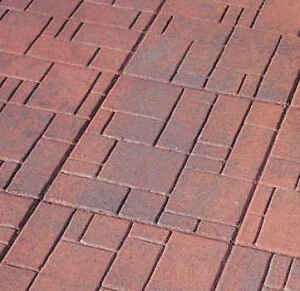 **SOLD**  Like-New Patio Stones Red Brick Pattern 50+ Available