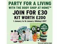 Flexible business opportunity with the body shop at home