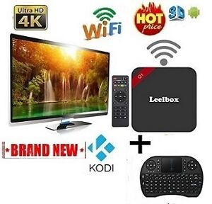 FULLY LOADED ★UNLOCKED★ 4K-Q1 TV BOX + Wireless Keyboard $69.99