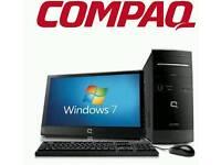 Windows 7 computer compaq also monitor included