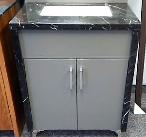 (Brand New) Bathroom Vanity with Marble Counter-top and Sides- G