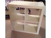 Ikea cube furniture unit.