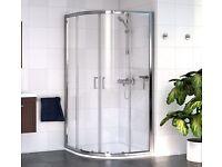 AQUALUX Quadrant Shower Enclosure 800mm with Tray & Waste