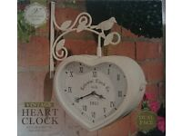 VINTAGE HEART WALL CLOCK