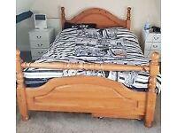 KING SIZE BED FRAME, PINE - £50 [Ferndown]