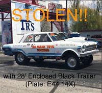 28 ft trailer and race car