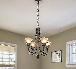 Trendy Hanging Light Fixture and Dome Light Fixture