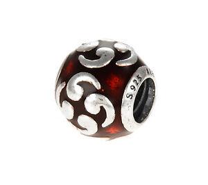 Authentic Pandora Red Enamel Zen Charm!!
