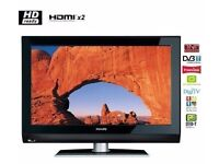 "Philips 32"" inch HD Ready LCD TV with Freeview built in, 2 x HDMI not 28 37 40 39 Will Deliver"