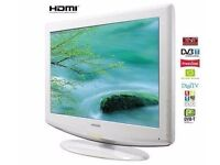 Exclusive White Samsung 32in LCD HD 3xHDMI, Freeview, Original Remote