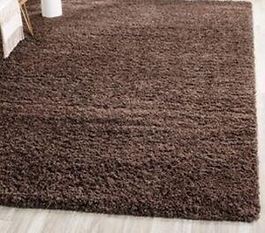 Large Chocolate Brown Area Rug