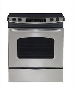 CLEAROUT ON MAJOR BRAND STAINLESS STEEL SLIDE IN STOVES!! --WOW!!