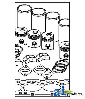 John Deere Parts In Frame Overhaul Kit Ik4593 480a Sn 275483 4.219 Eng450b
