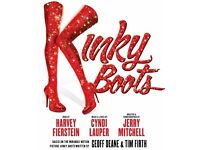 6 x Premium seats to see Kinky Boots (Stalls - Row C, Seats 22 - 27)