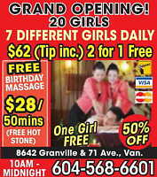 Grand Opening 50% Off,Best Chinese massage