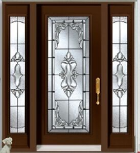 Single Front Entry Door and Two SideLights