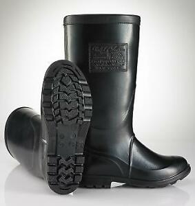 Brand new RALPH LAUREN Rubber/Rain Boots (8 US mens) C$159