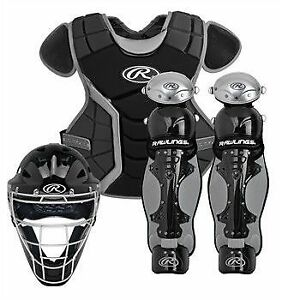 Rawlings baseball catchers equipment set youth int junior w/ bag