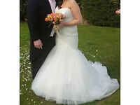 Designer fish tail ivory Wedding dress