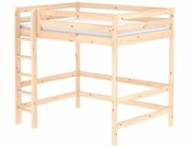 Flexa Classic High Bed in clear pine, used but excellent condition with all parts and instructions