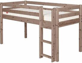 Flexa mid sleeper children's bed with ladder