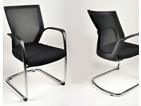 6 - SIDIZ - HI QUALITY CONFERENCE CHAIRS - BLACK SEAT WITH BLACK MESH , VERY GOOD CONDITION