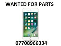 Wanted, Faulty, iphone for parts, iphone 7, iphone 6s, iphone 5se. waterdamaged, spares or repair
