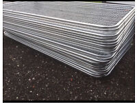 ROUND TOP METAL HERAS STYLE SECURITY FENCE PANELS *NEW* 3.46 X 2M