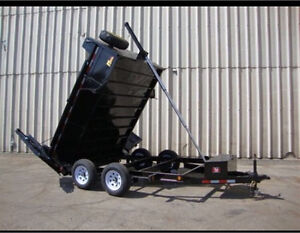 6x10 5000lb dump trailer with barn doors! 4 months old!