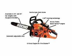 Scie à chaîne à essence Echo Gaz Powered Chain Saw