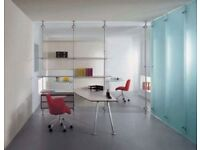 Glass office partitions - beautiful Italian design