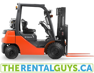 Toyota Forklift Rentals - Free Delivery & Pickup