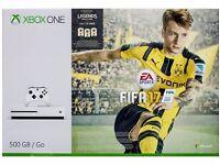 XBOX One S + FIFA 17 Digital White Box Sealed