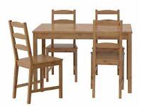 IKEA JOKKMOKK Pine Table and 4 Chairs