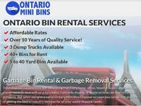 Garbage Bin Rental/ Junk Removal, Disposal