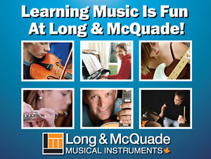*NEW* Voice, Brass & Woodwind Lessons at Long & McQuade