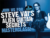 Join Long & McQuade for STEVE VAI's MASTERCLASS!