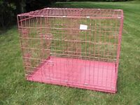 XL dog cage brandnew in pink colour only £40