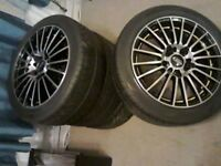 "15"" multispoke alloys with tyres x4"
