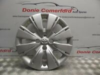 Toyota Yaris silver Wheel Trim 15, just one