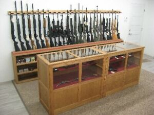 Rifle display for retail