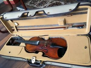 Full size student violin, bow and quality case