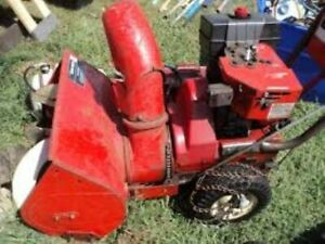Working Vintage Snowbird Snowblower. Self Propel Gas and Electic