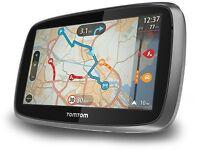 "TomTom Go 500 5"" Sat Nav, Western Europe Lifetime Traffic Maps In Car GPS System"