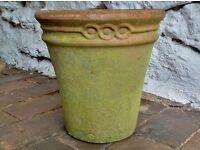 Terracotta Weathered Garden Pot - vintage
