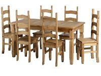 Corona Budget Table + 6 Chairs