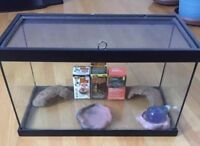 10 Gallon Reptile Tank With Lid And Accessories For Sale!!!